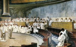 Cicero Denouncing Catiline by Cesare Maccari
