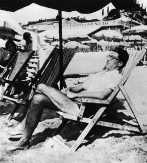 Cesare Pavese on a Deckchair