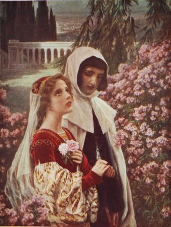 Dante and Beatrice in the Garden