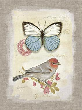 Red Natural Life, Butterfly and Little Bird by Chad Barrett