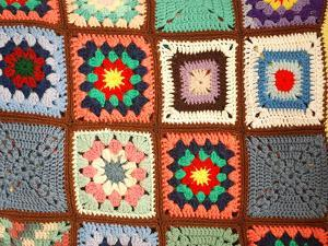 Colorful Crochet Quilt by Chad C.