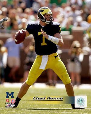 Chad Henne University of Michican Wolverines 2005 Action