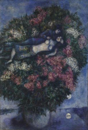 Lovers Among Lilacs by Chagall Marc