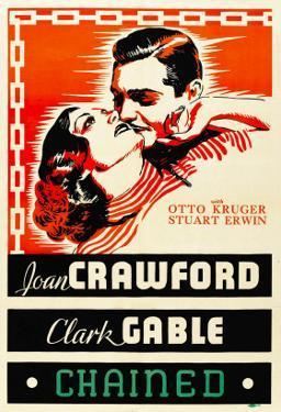 Chained, Joan Crawford, Clark Gable, 1934