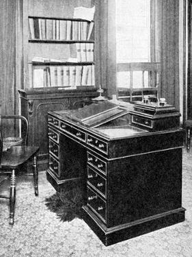 Chair and Desk of Charles Dickens, Used at Gadshill, 1923