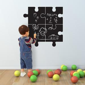 Chalkboard Puzzle Designed Wall