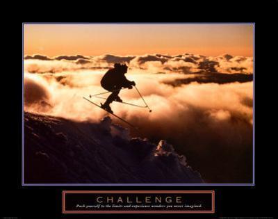 Challenge: Skier in Clouds