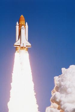 Challenger Space Shuttle Lifting Off