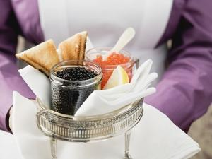 Chambermaid Serving Caviar and Toast