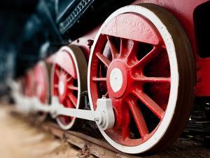 Steam Locomotive Wheels close Up by ChamilleWhite