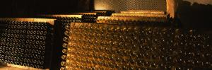 Champagne Bottles in a Cellar, Schramsberg Vineyards, Calistoga, Napa Valley, California, USA