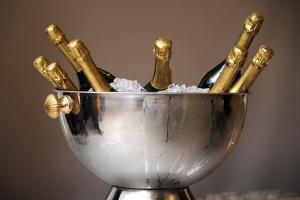 Champagne Bottles in an Ice Bucket