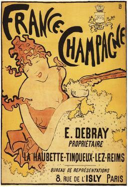 Champagne, France - E. Debray Champagne Advertisement Poster