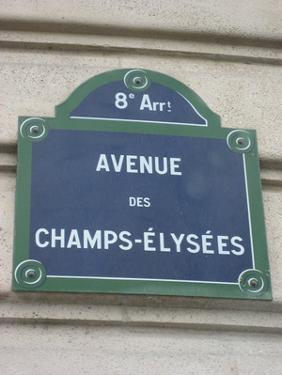 Champs-Elysees (Sign) Art Poster Print
