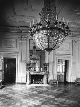 Chandelier Hanging in East Room of White House