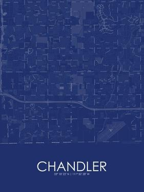 Chandler, United States of America Blue Map