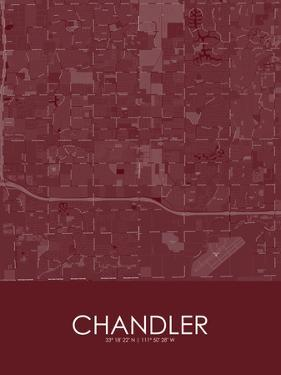 Chandler, United States of America Red Map