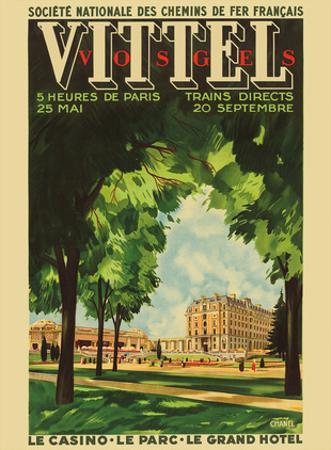 Vittel, France - Casino, Park, Grand Hotel - National Society Of French Railways by Chanel
