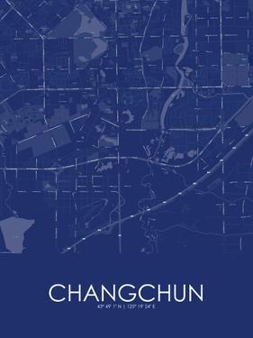 Changchun, China Blue Map