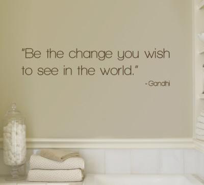 Change - Gandhi - Brown