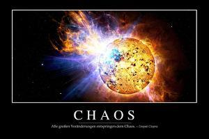 Chaos: Motivationsposter Mit Inspirierendem Zitat