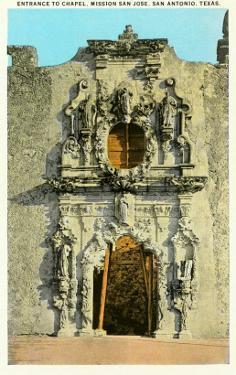 Chapel Entrance, Mission San Jose, San Antonio, Texas