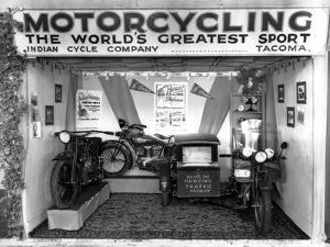 Indian Cycle Co. Booth at Puyallup Fair, 1927 by Chapin Bowen