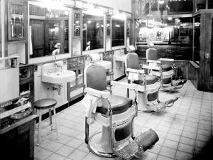 Inside a Barber Shop, 1927 by Chapin Bowen