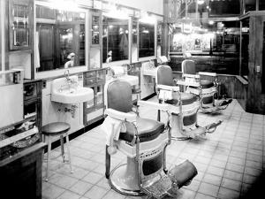 Inside a Barber Shop, 1927 by Chapin Bowen