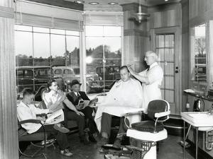 Lakewood Barber Shop, 1940 by Chapin Bowen