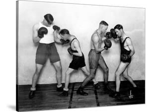 YMCA Boxing Class, Circa 1930 by Chapin Bowen