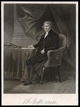 Thomas Jefferson Third President of the United States by Chappel