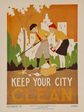 Character Culture Citizenship Guides Original Poster, Keep Your City Clean
