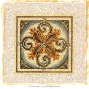 Crackled Cloisonne Tile VI by Chariklia Zarris