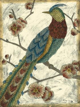 Embroidered Pheasant I by Chariklia Zarris