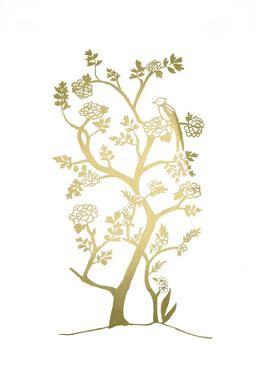 Gold Foil Chinoiserie I by Chariklia Zarris