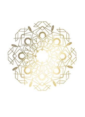 Gold Foil Mandala IV by Chariklia Zarris