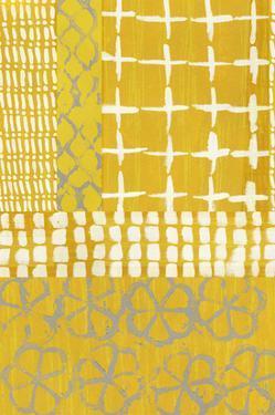 Golden Blockprint I by Chariklia Zarris