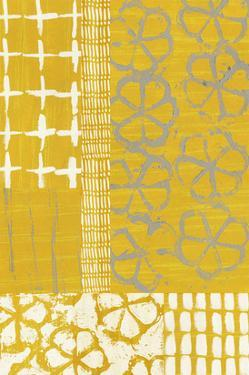 Golden Blockprint II by Chariklia Zarris