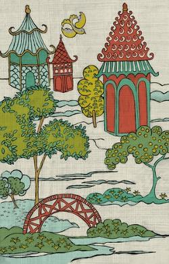 Pagoda Landscape I by Chariklia Zarris