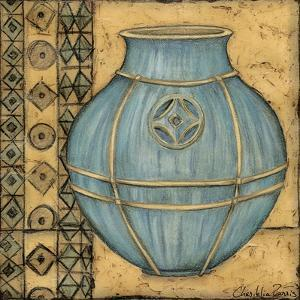 Square Cerulean Pottery I by Chariklia Zarris