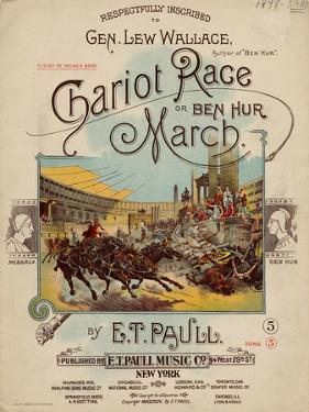 Chariot Race or Ben Hur March, Sam DeVincent Collection, National Museum of American History
