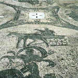Chariotieer, Mosaic, Cisarii, Ostia, Italy, C1st Century