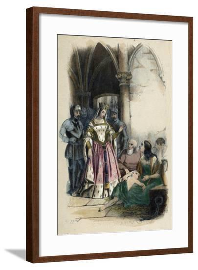 Charity and Goodness of Queen Blanche of Castile, France--Framed Giclee Print