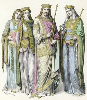 Charlemagne and Courtiers