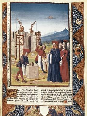 Charlemagne at the Construction of Aix La Chapelle, in 796