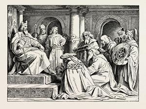 Charlemagne Receiving Ambassadors from Haroun Al Raschid