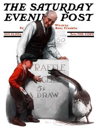 """Raffle Prize,"" Saturday Evening Post Cover, November 22, 1924"