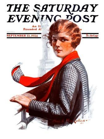 """""""Staten Island Ferry,"""" Saturday Evening Post Cover, September 13, 1924"""