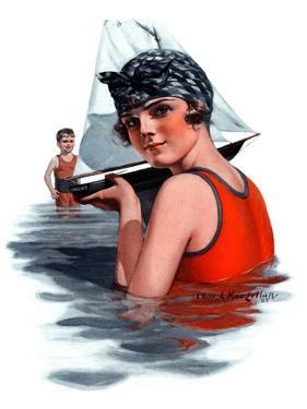 """""""Toy Sailboat,""""August 1, 1925 by Charles A. MacLellan"""